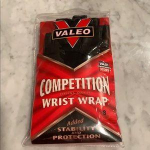 Valeo competition lifting gloves wrist wrap Sz S